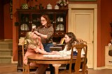 "PHOTO PROVIDED - Abby Kate Herron, Nancy Berg, and Alexis Webber in Blackfriars Theatre's ""When We Were Young & Unafraid."""