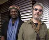 PHOTO BY HIROSHI TAKAOKA - Hamid Drake (left) and Adam Rudolph (right) will perform - together as Karuna at the Bop Shop on Saturday, May 5.