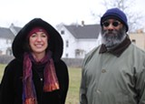 PHOTO COURTESY OF THE NATURE CONSERVANCY - Jocelyn Gavitt, left, and Emanuel Carter, SUNY College of Environmental Science and Forestry professors, helped a group of 18 landscape architecture students develop reuse concepts for vacant properties along Joseph Avenue.