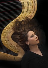 PHOTO BY MARK BATTRELL - Harpist Yolanda Kondonassis performs with the RPO in its world premiere performances of a new work by Jennifer Higdon.