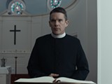 "PHOTO COURTESY A24 - Ethan Hawke in ""First Reformed."""