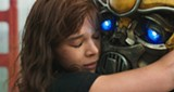 "PHOTO COURTESY PARAMOUNT PICTURES - Hailee Steinfeld and robotic friend in ""Bumblebee."""