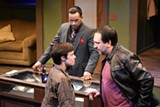 """PHOTO BY MEGAN COLOMBO - Fiona Criddle, J. Simmons, and Danny Hoskins in Blackfriars' production of """"Mauritius."""""""