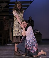 "PHOTO BY LOU SCHNEIDER - Maya Dwyer and Sara Penner in JCC CenterStage's production of ""Indecent."""