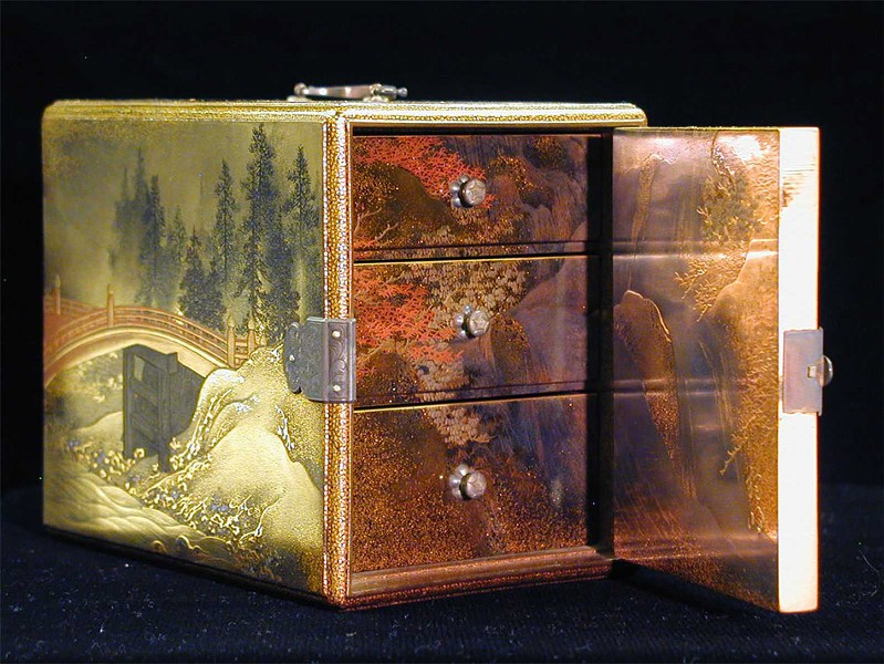 "Unknown Japanese artist, Edo Period (1615-1867 CE), ""Lacquered Incense Box (Ko-Dansu)"""