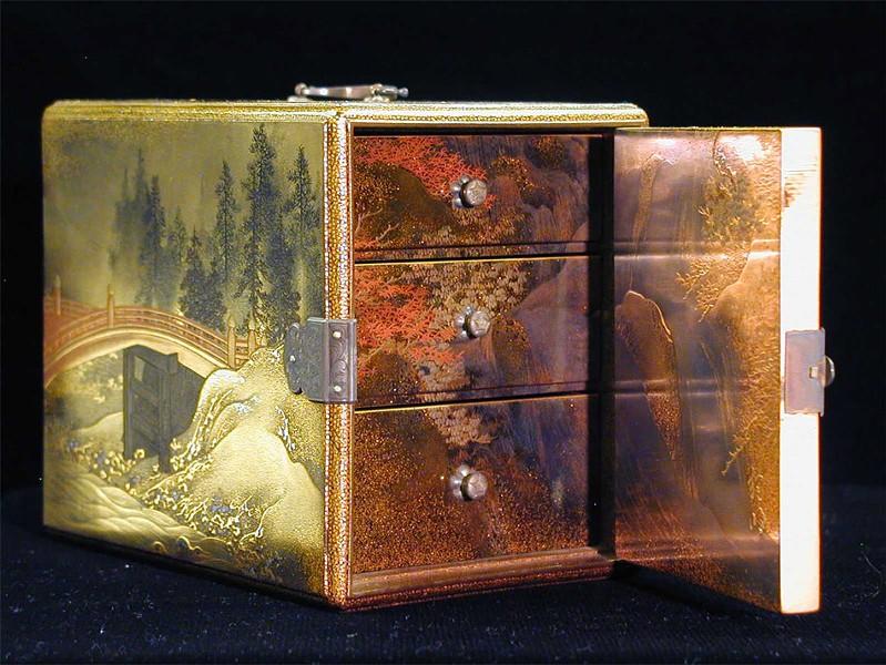 "Unknown Japanese artist, Edo Period (1615-1867 CE), ""Lacquered Incense Box (Ko-Dansu)"""