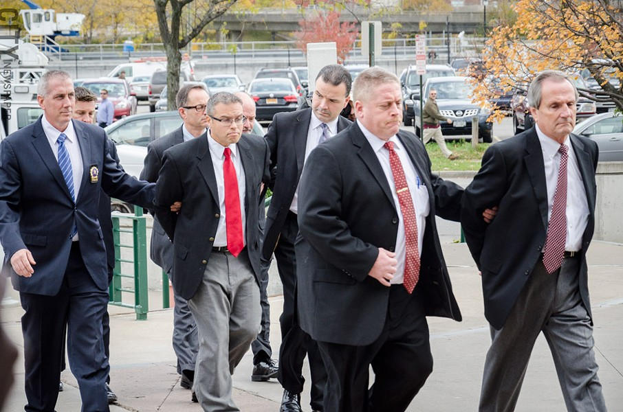 Charges were lodged today against four people in an ongoing probe into county-linked LDC's. - PHOTO BY MARK CHAMBERLIN