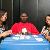 SWAN After-School Program Veronica, Jaqual, & Victoria playing cards at the SWAN after-school program. PHOTO BY MIKE HANLON