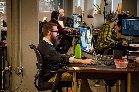 Video game developer Workinman usually has eight to 12 games in the works at any given time. - PHOTO BY MARK CHAMBERLIN