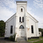 Marvin Maye wants to tear down this vacant church on West Main for an unspecified food store. The application is in front of the city's Zoning Board this week. - FILE PHOTO