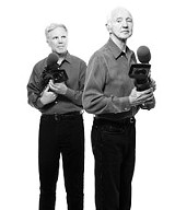 "COURTESY OF THE GEORGE EASTMAN HOUSE - Who's directing this thing? Mark and Haskell Wexler in ""Tell Them Who You Are."""