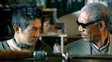 ROGUE PICTURES - With greats: Jet Li shows maybe he can act, alongside Morgan Freeman anyway, in Unleashed.