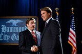 "Zach Galifianakis and Will Ferrell in ""The Campaign."" PHOTO COURTESY WARNER BROS. PICTURES"