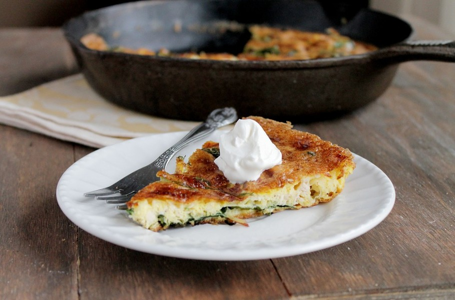 leftover-turkey-frittata-with-spinachjpg