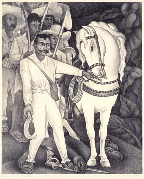 DIEGO RIVERA, ZAPATA (DETAIL), 1932