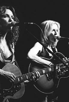 A bittersweet night: Lisa (left) and Roberta Morales rockin' it at Sam's.