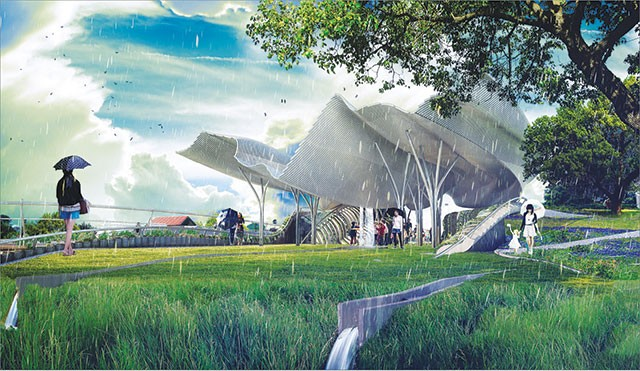 A conceptual design for Confluence Park - COURTESY PHOTO