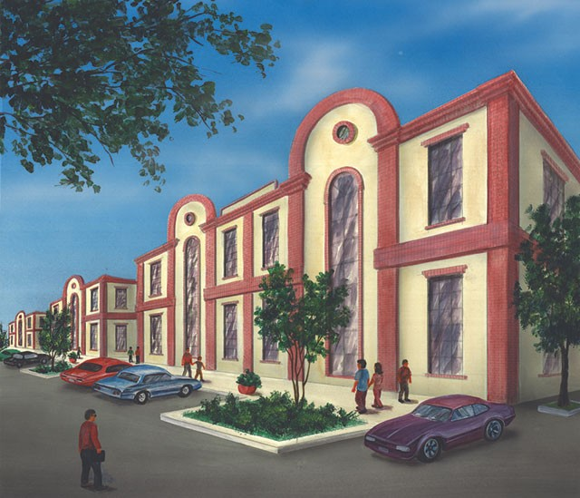 A conceptual drawing of the Hispanic Heritage Center of Texas' physical space - COURTESY IMAGE