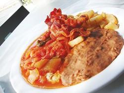 A huevos rancheros plate from Chella's Café.