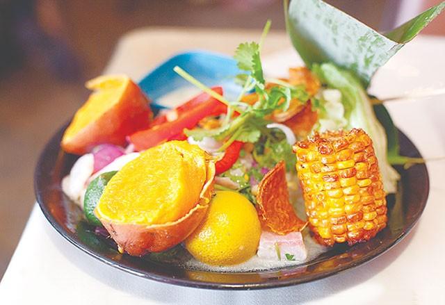 A sampling from Chef Waldo's lunch buffet - SUNNI HAMMER