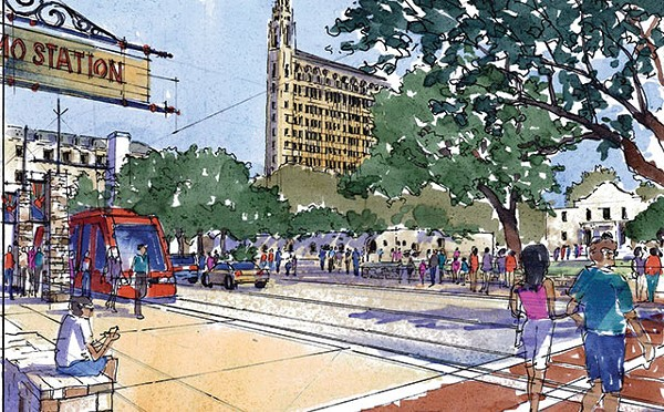 A VIA vision of the future with a Downtown streetcar - COURTESY PHOTO