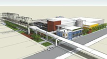 COUTRTESY PHOTOS - An artist's rendering of proposed Alamo Brewery off the Hays St. bridge.