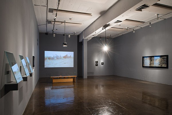An installation view of Tokyo-based daguerreotypist Takashi Arai's 'Silverplated' - MARK MENJIVAR