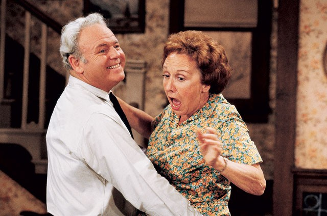 Archie and Edith forever: Caroll O'Connor and Jean Stapleton. - COURTESY PHOTO