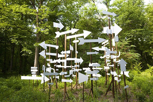 "Artist Kim Beck's ""NOTICE: A Flock of Signs"" - COURTESY"