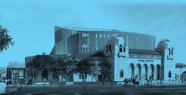 Artist rendering of the Tobin Center for Performing Arts.