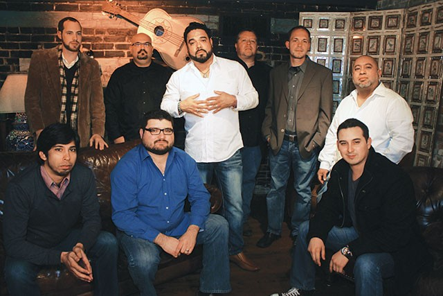 Barrio Big Band—Roberto Livar (center) with the current Bombasta lineup, keeping the party going - VERONICA LUNA