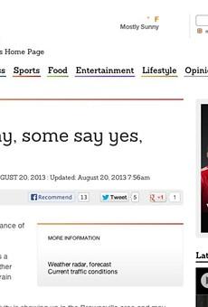 Best Express-News Headline Ever?