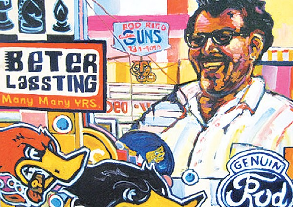 Beter Lasting Many Many YRS (detail), 2010, oil on canvas - COURTESY IMAGE