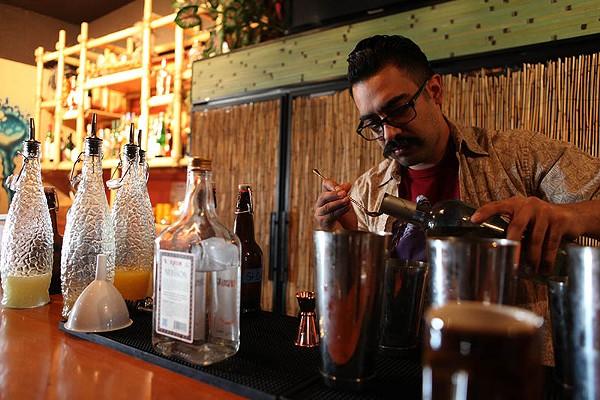 Beverage director Roy Guerrero's having fun with his menu - LINDA ROMERO