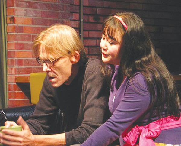 Bill Gundry and Jenn Harris in Time Stands Still at the Cellar. - ALFY VALDEZ