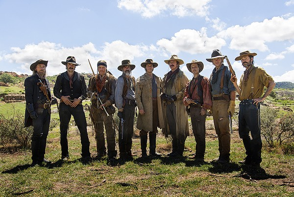 Bill Paxton (center) stars as Sam Houston in the new miniseries Texas Rising. - COURTESY