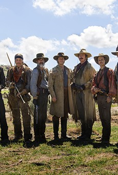 Bill Paxton (center) stars as Sam Houston in the new miniseries Texas Rising.