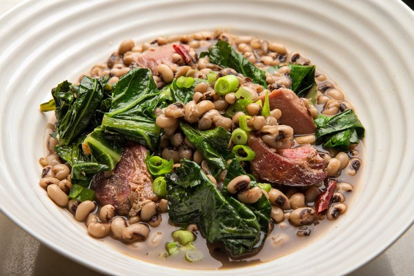 Black-Eyed Peas With Ham Hock and Collards - COURTESY OF THE NEW YORK TIMES
