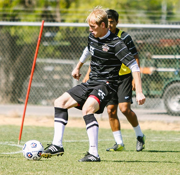 Bosnian midfielder Edin Husic, one of the Scorpions' new faces (and legs) for the 2013 season - JOSH HUSKIN