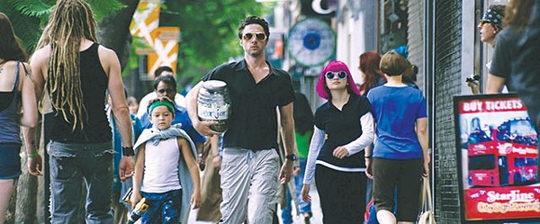 Braff as Aiden on one of those humorous shenanigans with the kids in 'Wish I Was Here' - COURTESY PHOTO