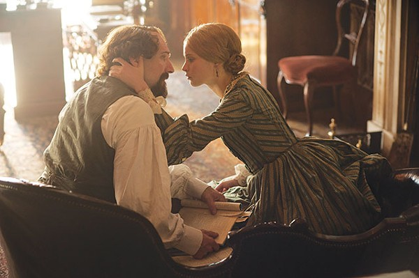 Charles Dickens (Ralph Fiennes) and Nelly Ternan (Felicity Jones) share a moment in 'The Invisible Woman.' The affair lasted until the end of his days. - COURTESY PHOTO