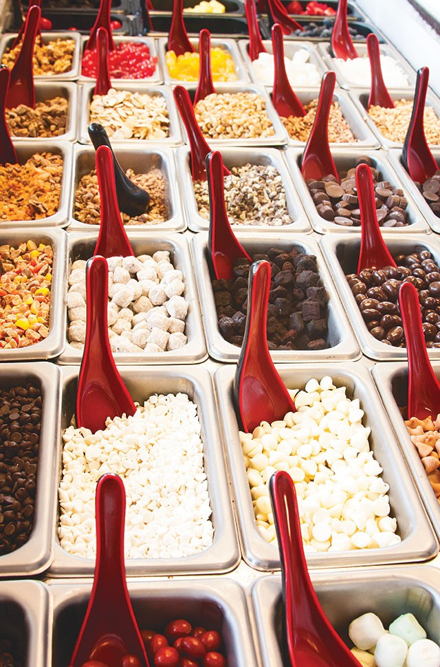 Chill Out with dozens of toppings and fro-yo, for cheap! - RACHEL BOWES