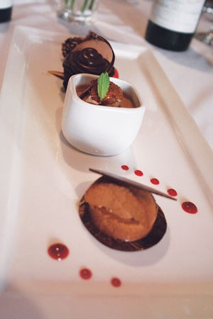 Choco-rama: The Valrhona-chocolate super-dessert plate at Las Canarias.