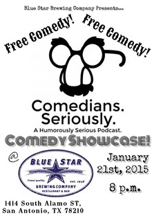 """BOB R. & BRYAN P. - """"Comedians. Seriously. A Humorously Serious Podcast."""" Comedy Showcase!"""