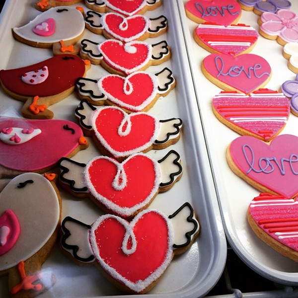 Decorated V-Day sugar cookies from Lily's. - COURTESY OF LILY'S COOKIES