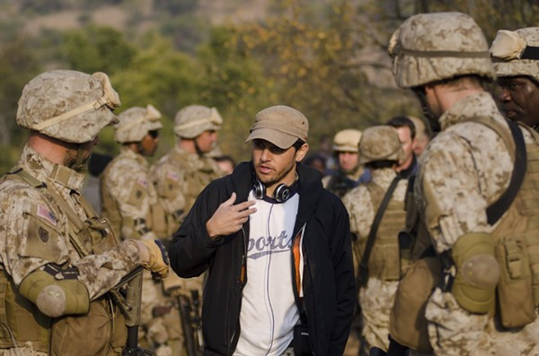 Director and SA-native Jabbar Raisani on the set of his film Alien Outpost - COURTESY