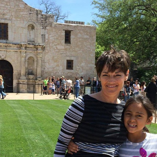 Donna Campbell, a state Senator from New Braunfels, visits the Alamo. - DONNA CAMPBELL