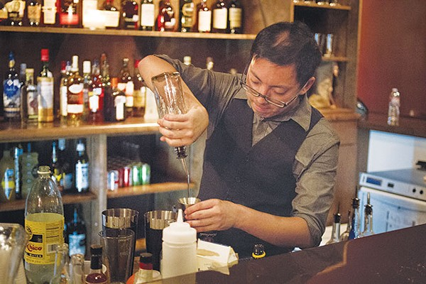 Don't be fooled: Jonny Yumol usually wears a T-shirt while bartending - COURTESY OF STEVE STARNES PHOTOGRAPHY