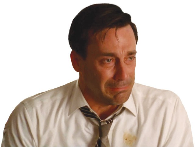 Don't cry, Jon Hamm. You'll be back on the air March 2012. - COURTESY PHOTO