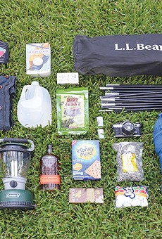 Don't forget your Spurs paraphernalia when gearing up for a Big Bend camping trip